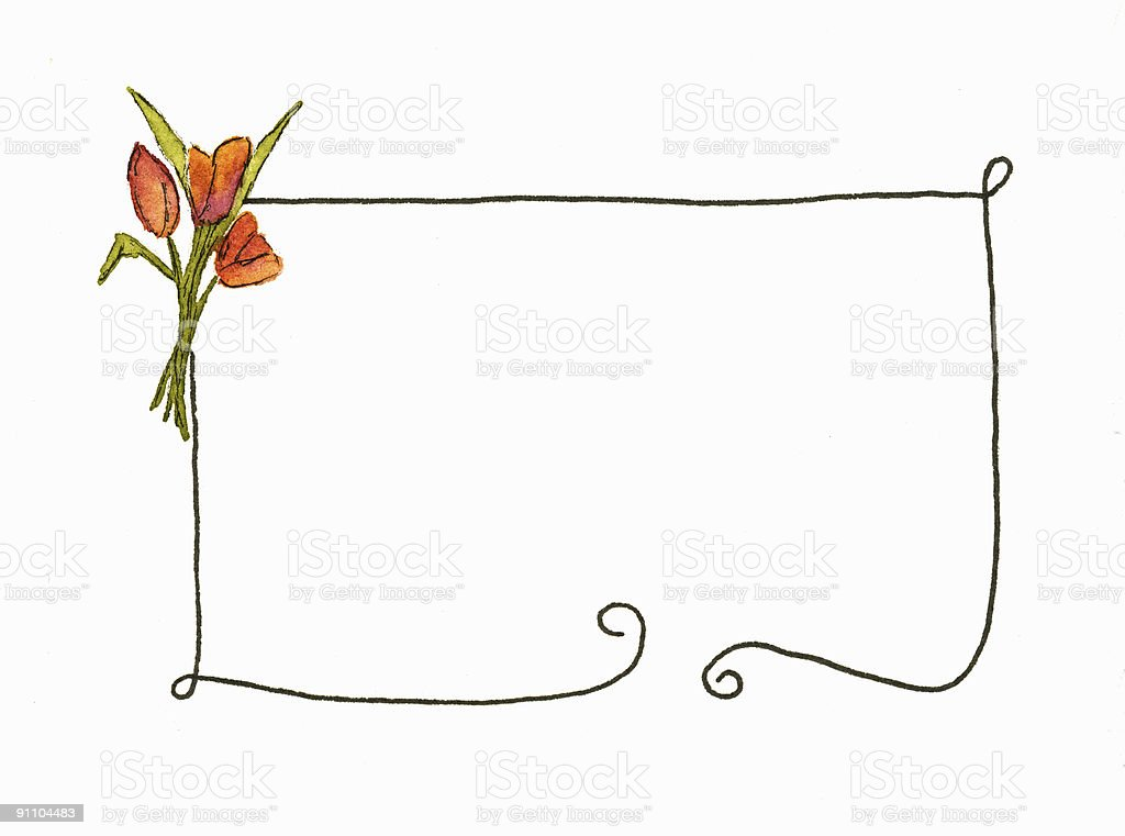 Tulip Border royalty-free stock vector art
