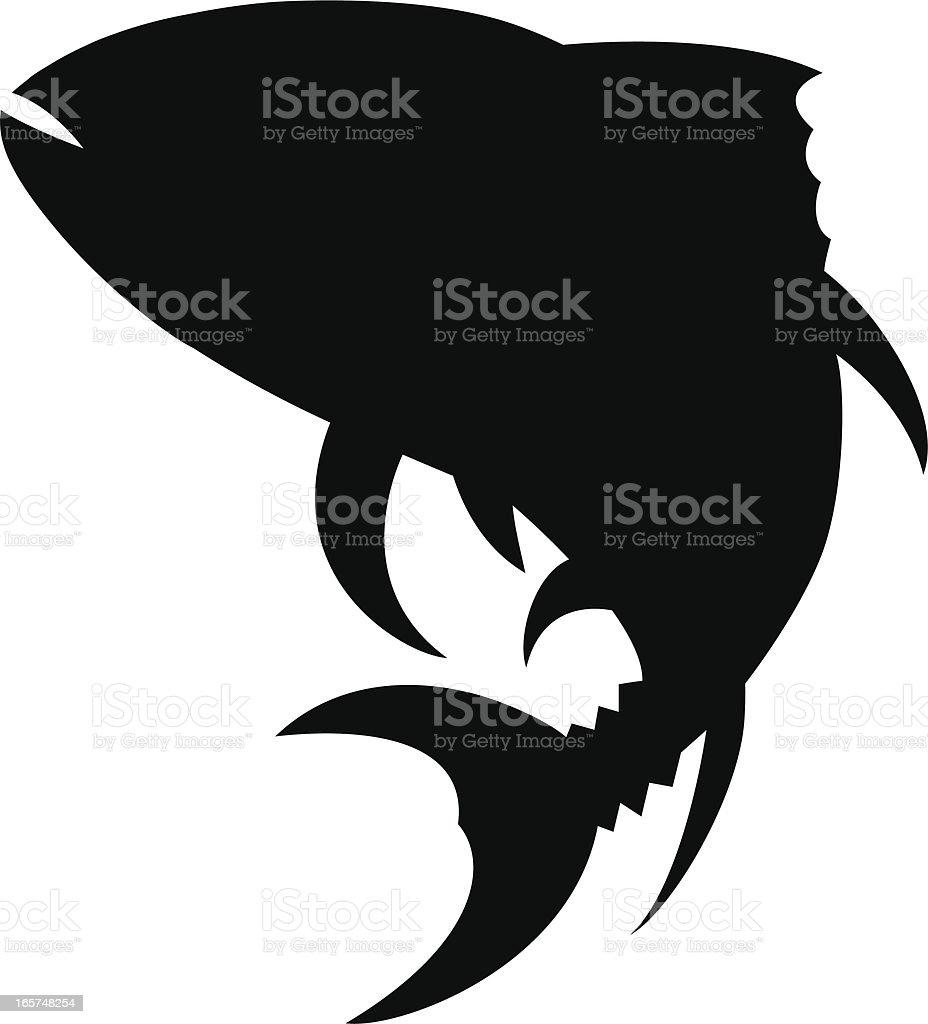 tuna silhouette vector art illustration