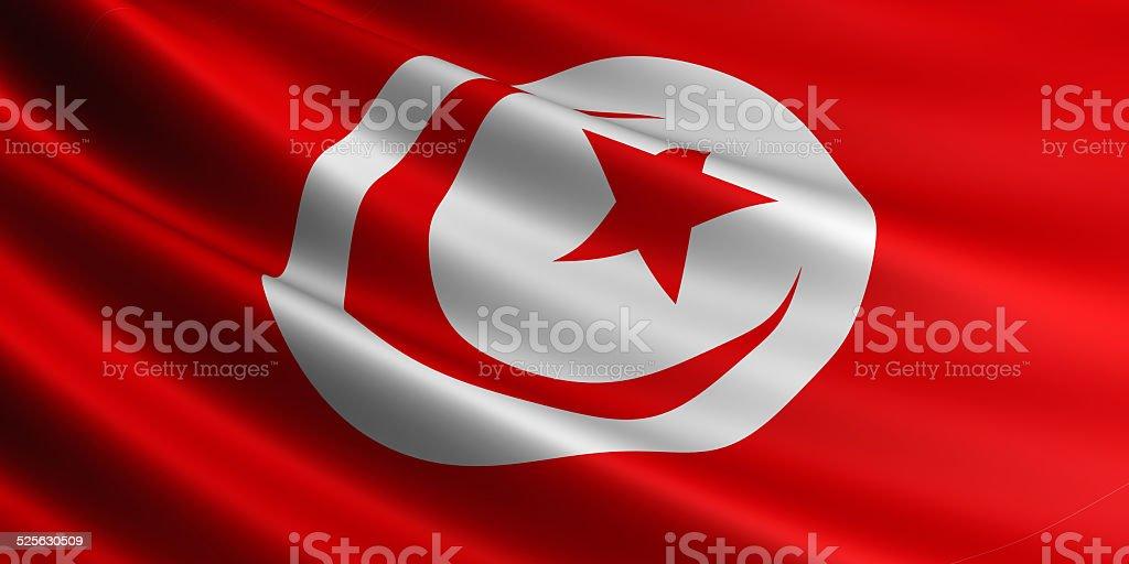 Tunisia flag. royalty-free stock vector art