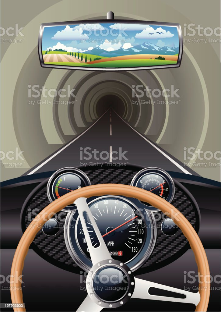 tunnel royalty-free stock vector art