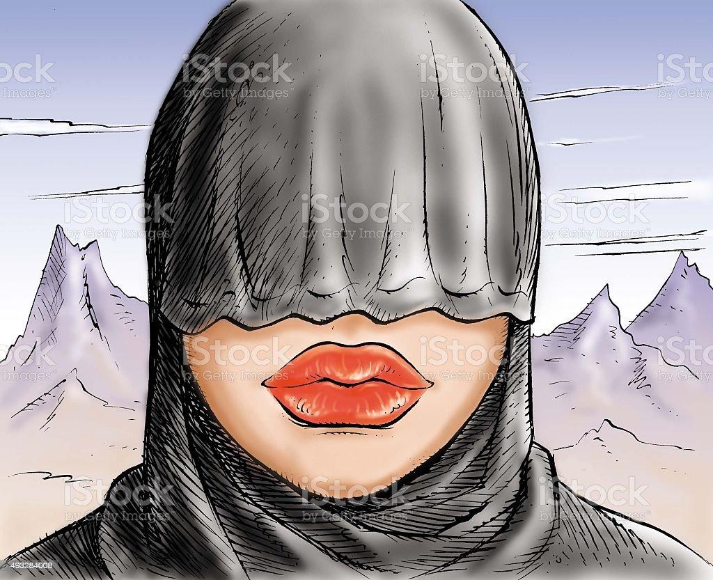 turban vector art illustration