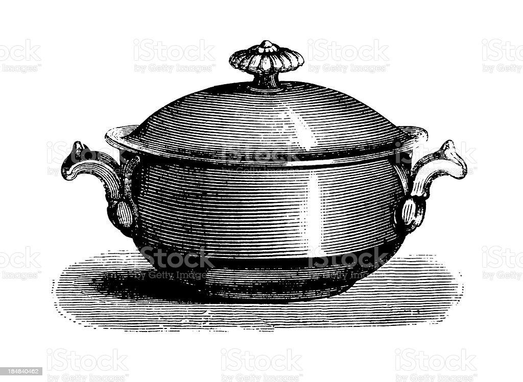 Tureen | Antique Culinary Illustrations vector art illustration