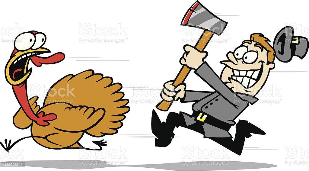 turkey chase royalty-free stock vector art