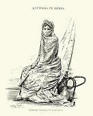 Turkish woman of Damascus, Syria, 19th Century