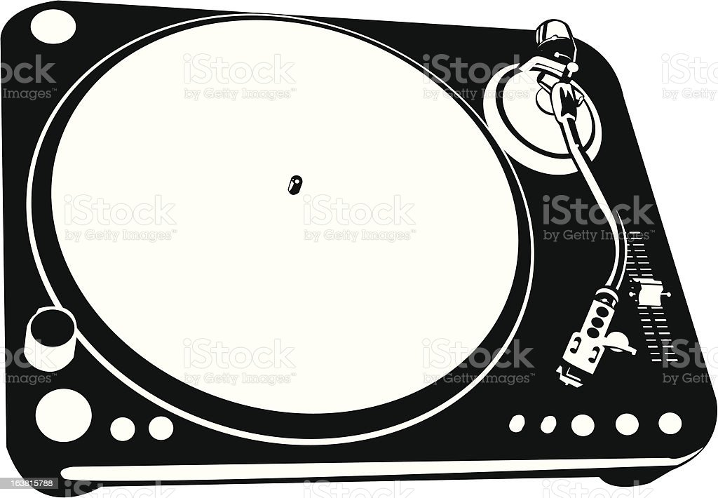 Turntable royalty-free stock vector art