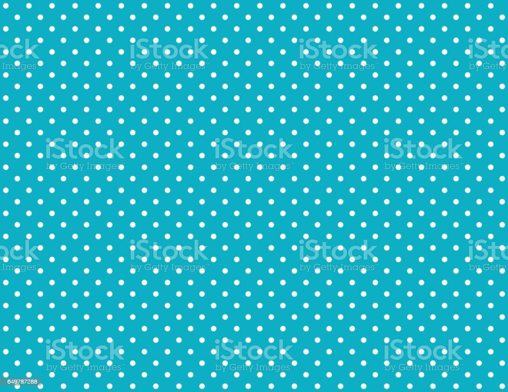 Turquoise background with white dots vector art illustration