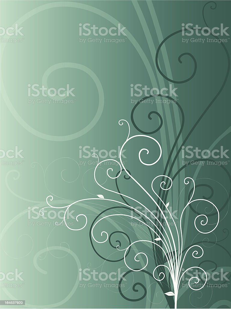Turquoise floral background royalty-free stock vector art