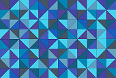 Turquoise Triangle Block Pattern