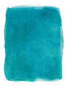 Turquoise watercolour background