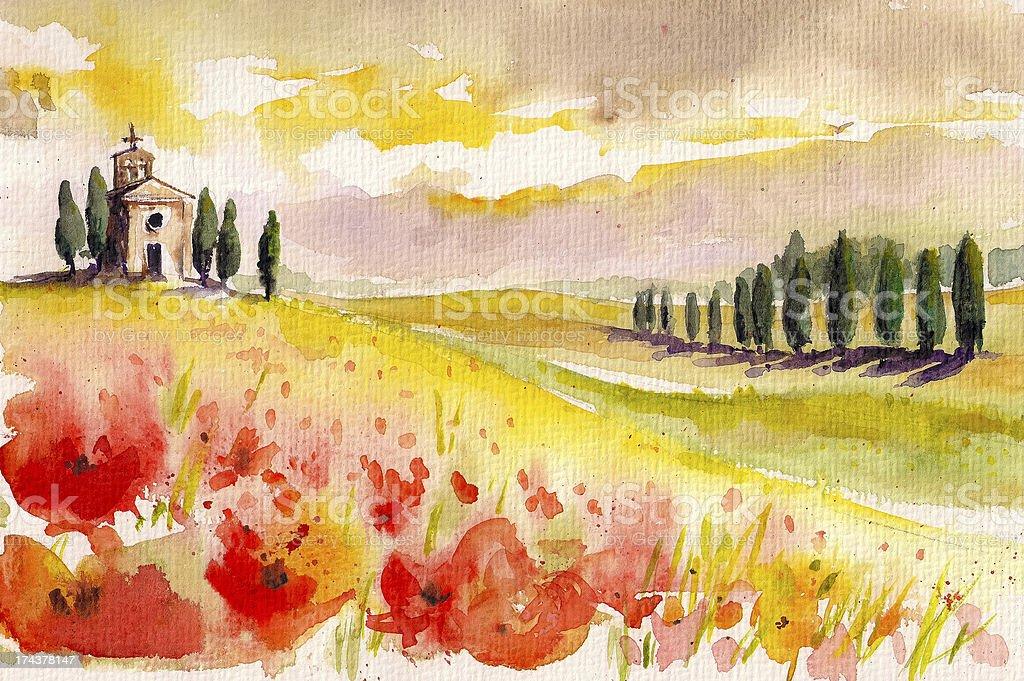 Tuscany royalty-free stock vector art