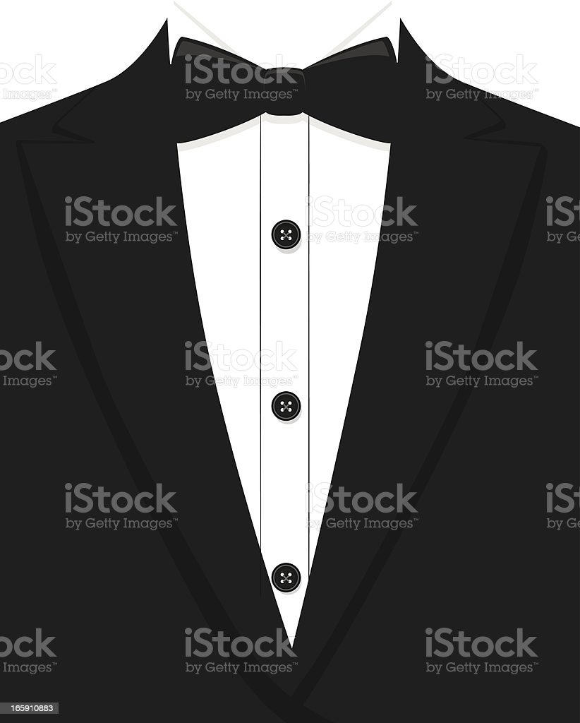 Tuxedo royalty-free stock vector art