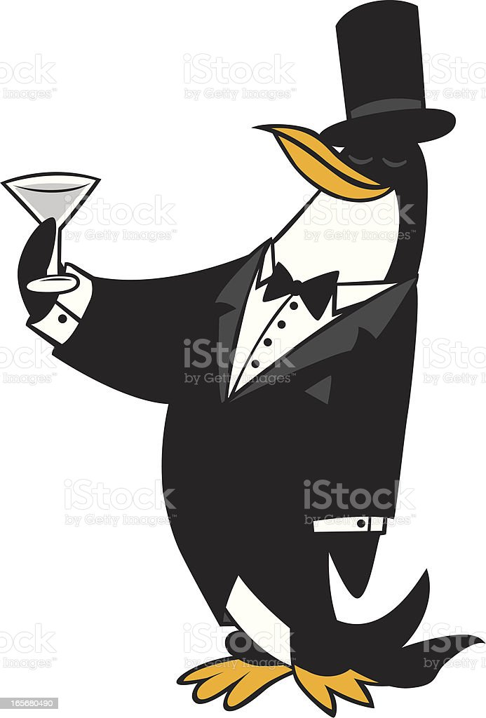 tuxedo penguin royalty-free stock vector art