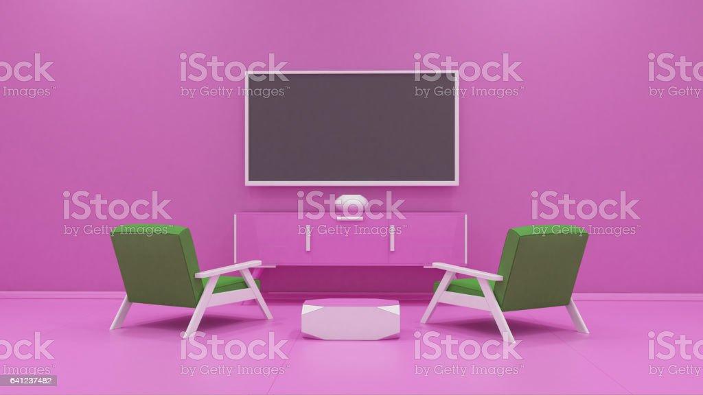 tv display 3d rendering vector art illustration