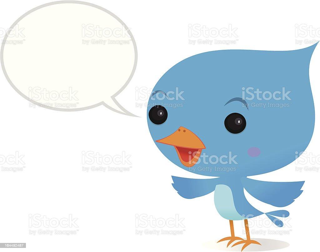 Tweeting bluebird vector art illustration