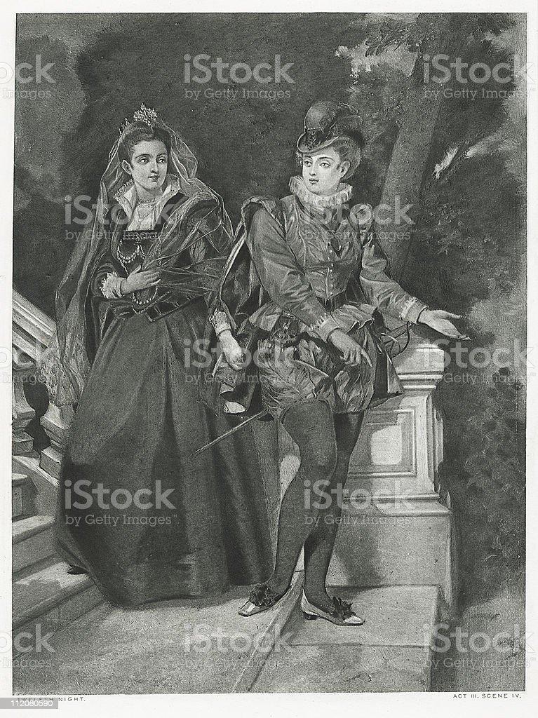 Twelfth Night royalty-free stock vector art