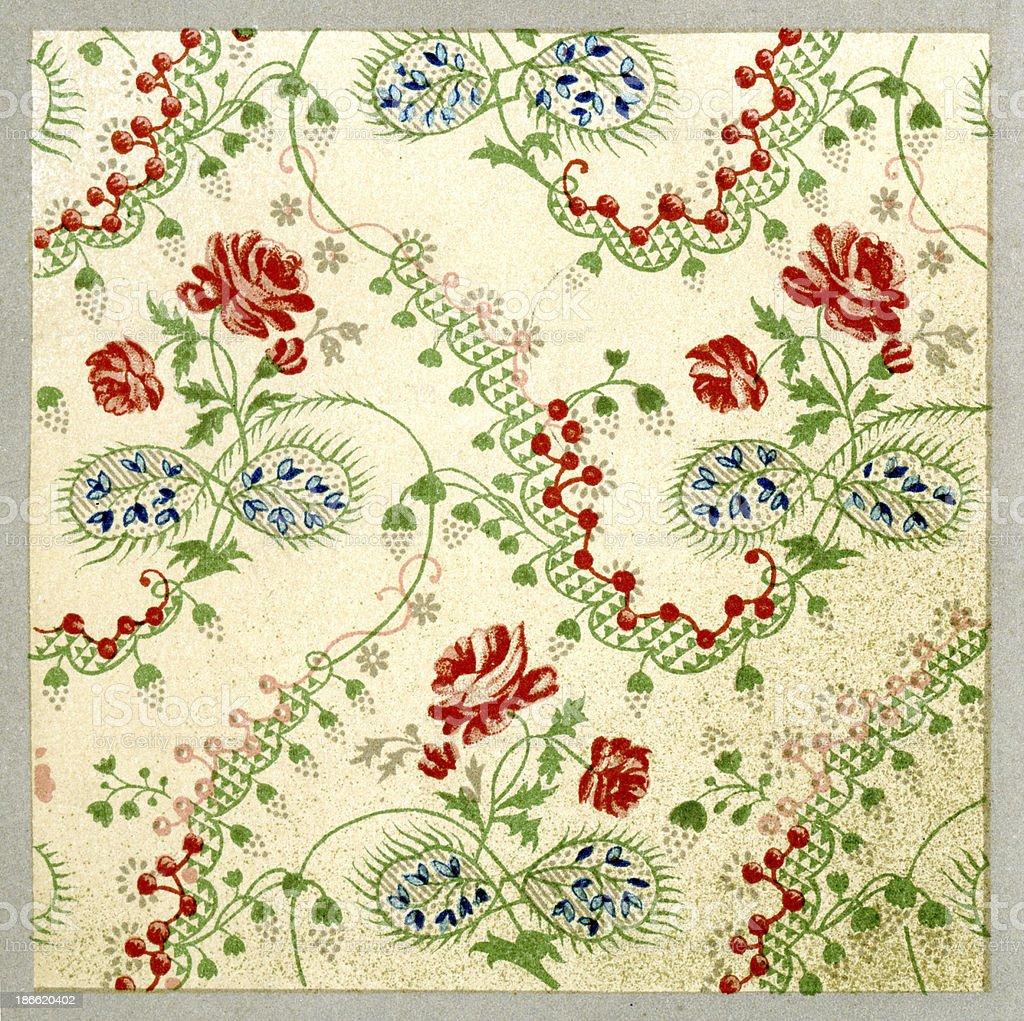 Twining Branch Pattern 18th Century royalty-free stock vector art