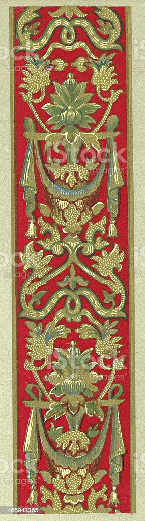 Twining Foliage Pattern - 16th Century vector art illustration