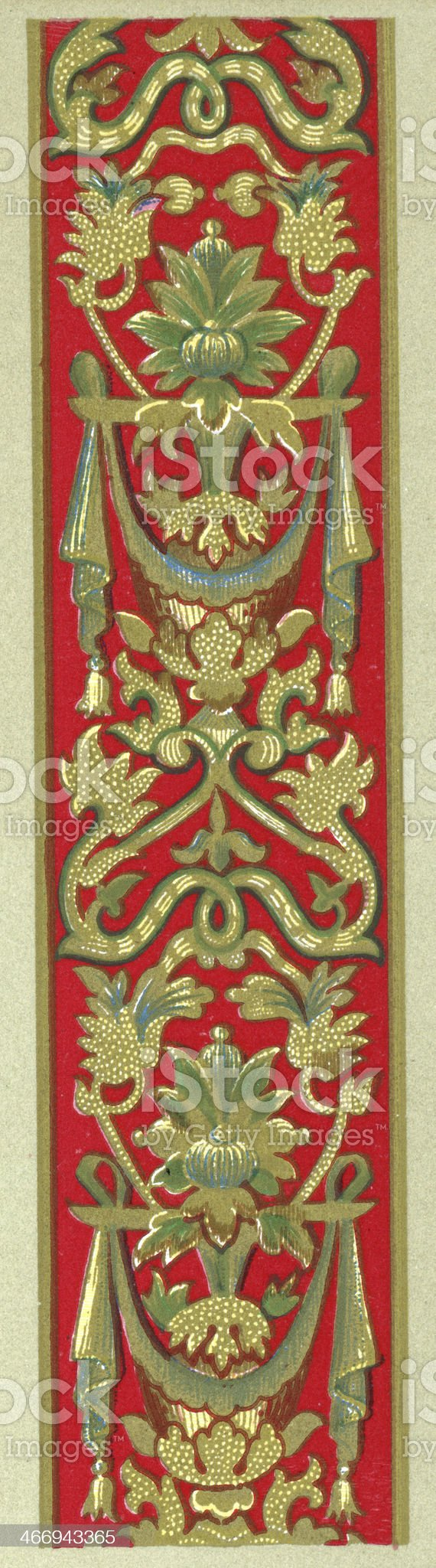 Twining Foliage Pattern - 16th Century royalty-free stock vector art