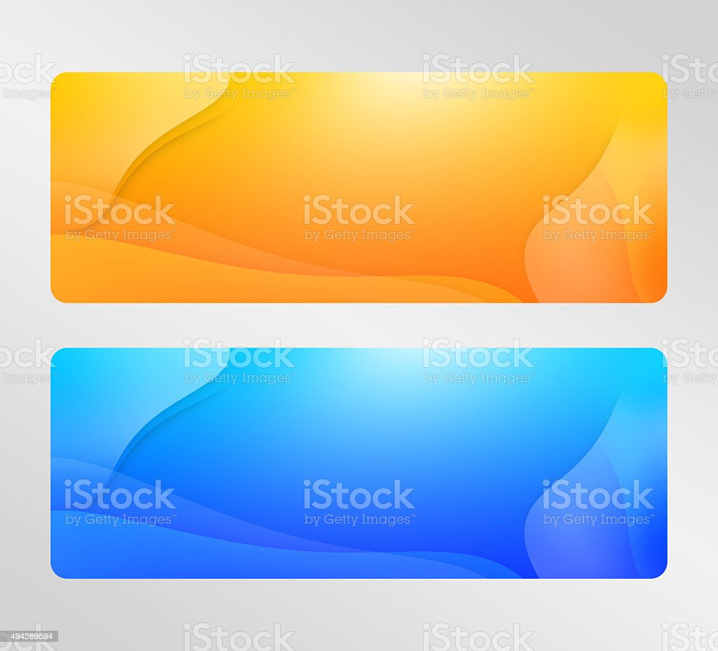 Two colorful abstract banners vector art illustration