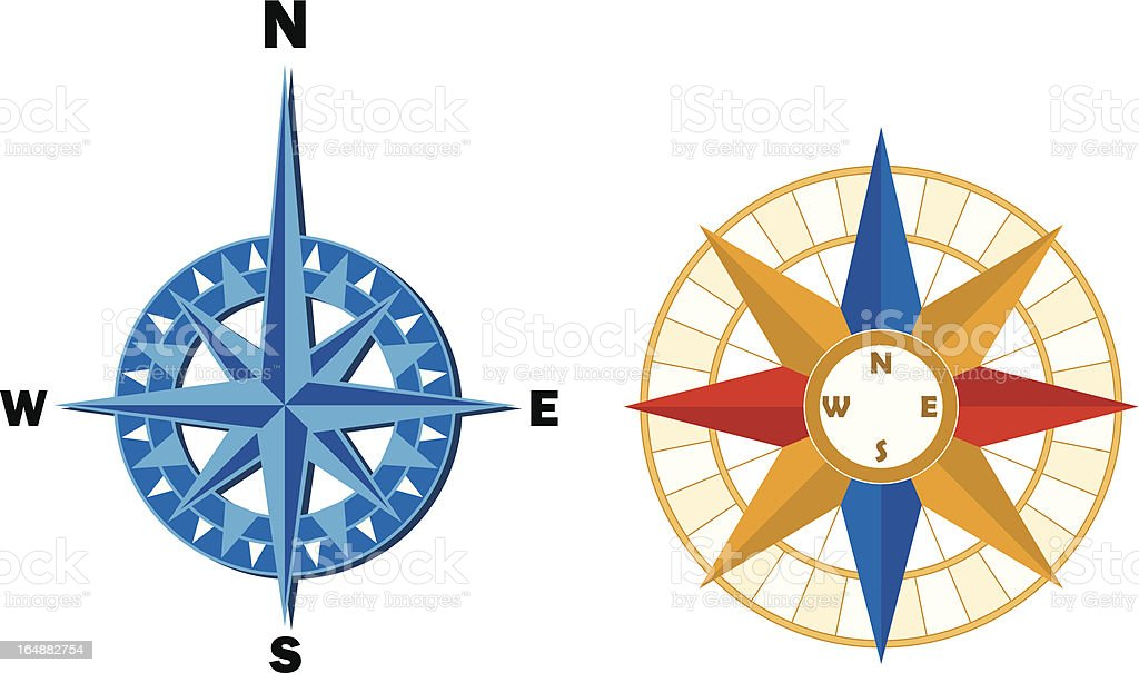 Two compass roses royalty-free stock vector art