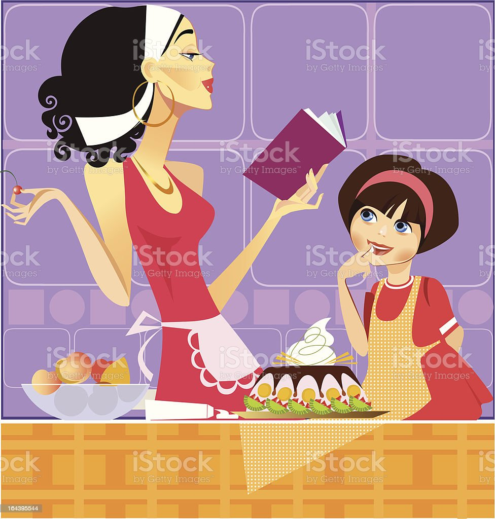 two confectioners royalty-free stock vector art