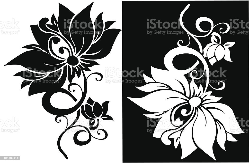 Two decorative floral ornaments royalty-free stock vector art