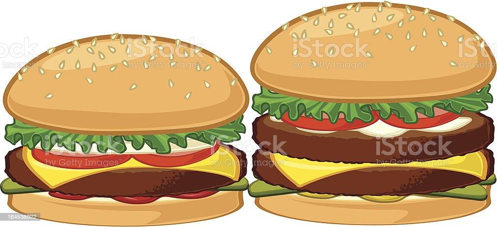 Две изысканные бургеры Сток Вектор Стоковая фотография