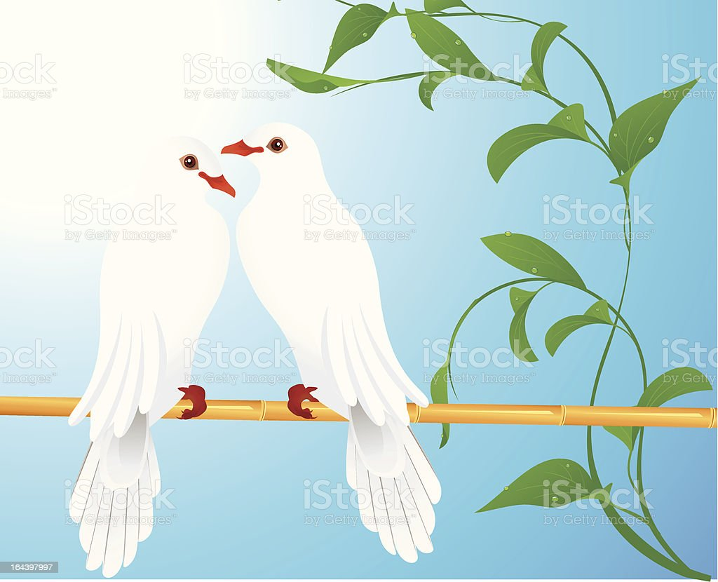 Two doves royalty-free stock vector art