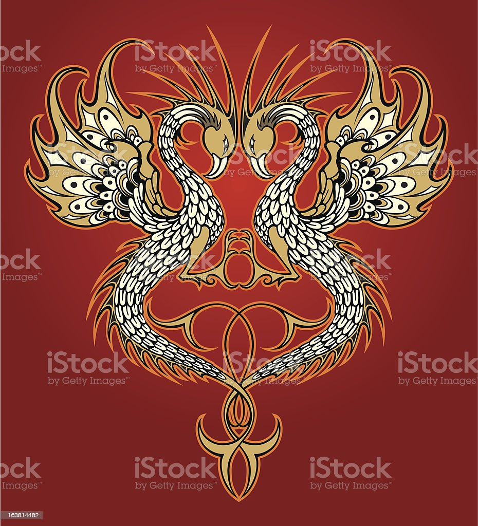 two dragons royalty-free stock vector art