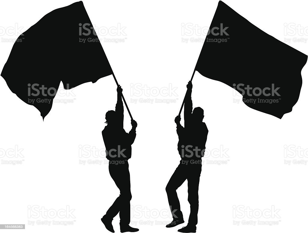 Two mans whit flag royalty-free stock vector art