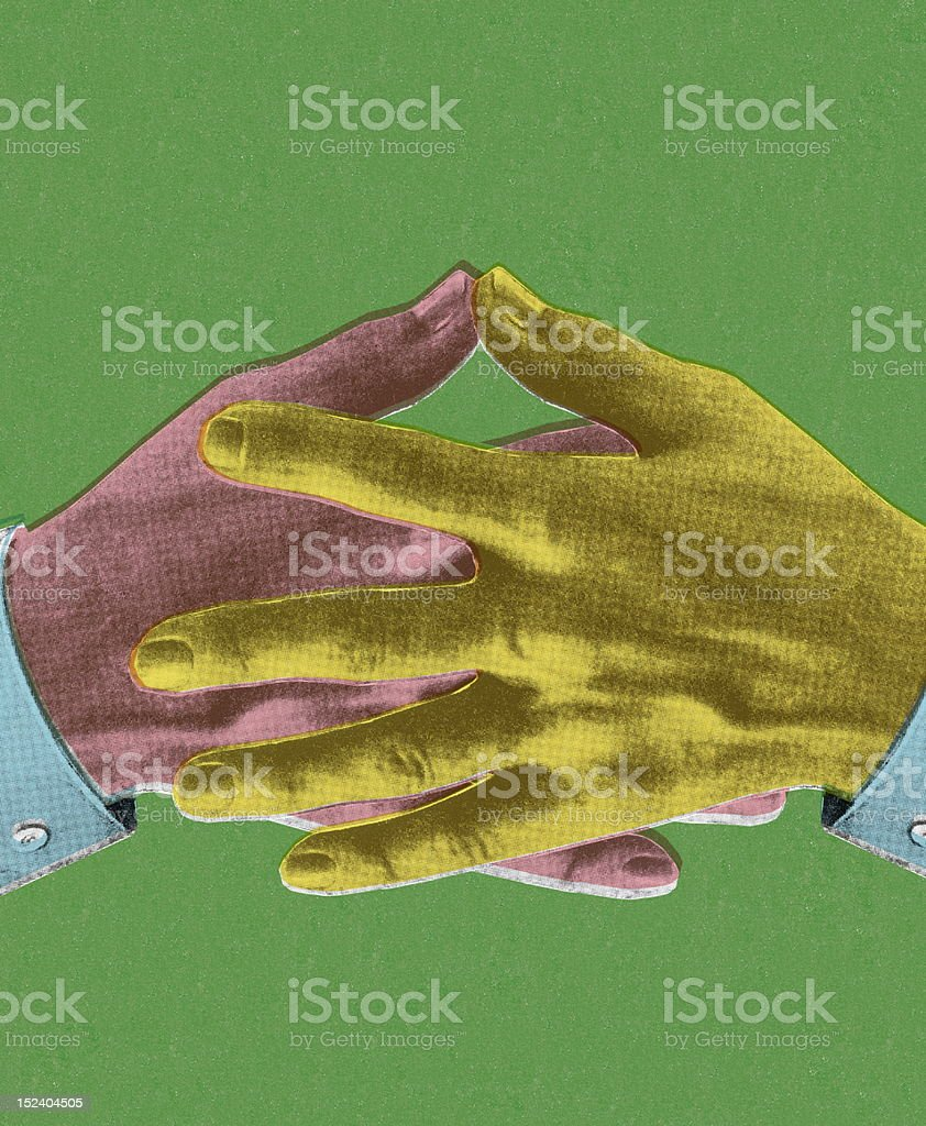 Two Overlapped Hands royalty-free stock vector art