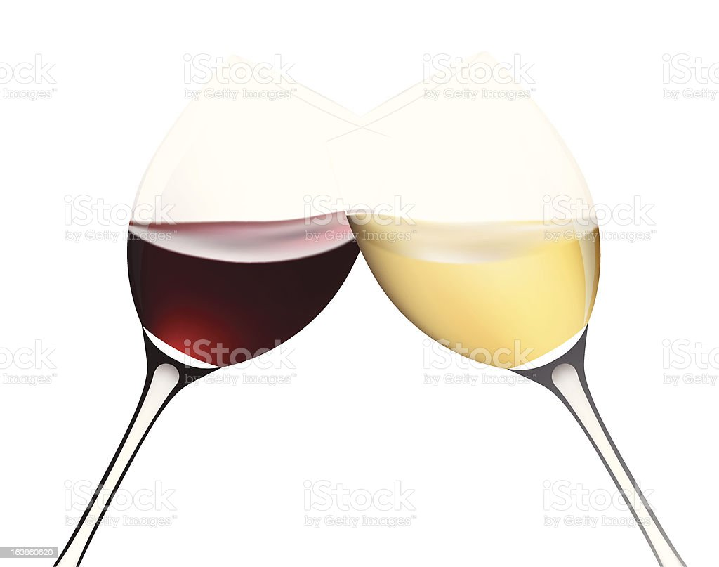 Two wine glasses. royalty-free stock vector art