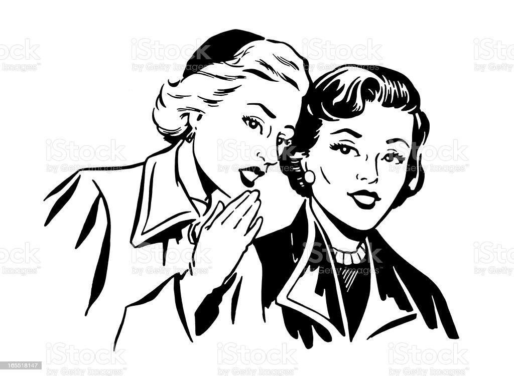 Two Women Talking royalty-free stock vector art