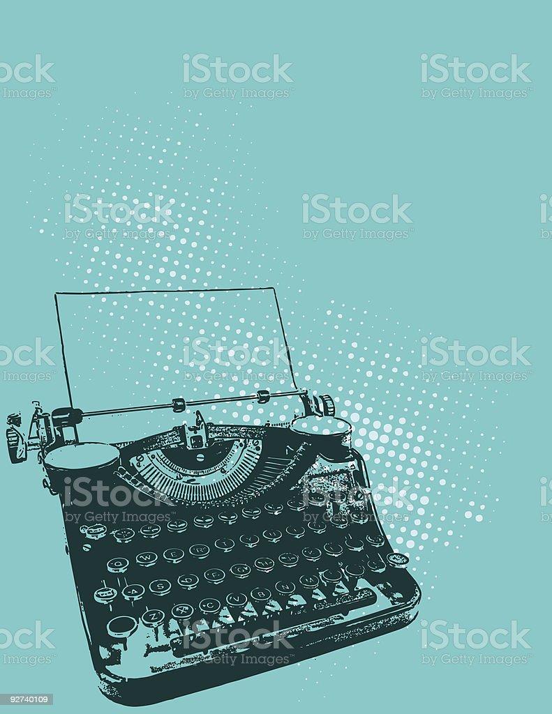 Typewriter Illustration vector art illustration