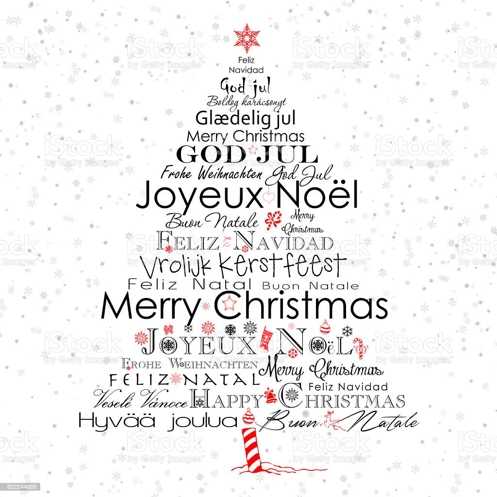 typography christmas tree stock vector art 522244055 istock