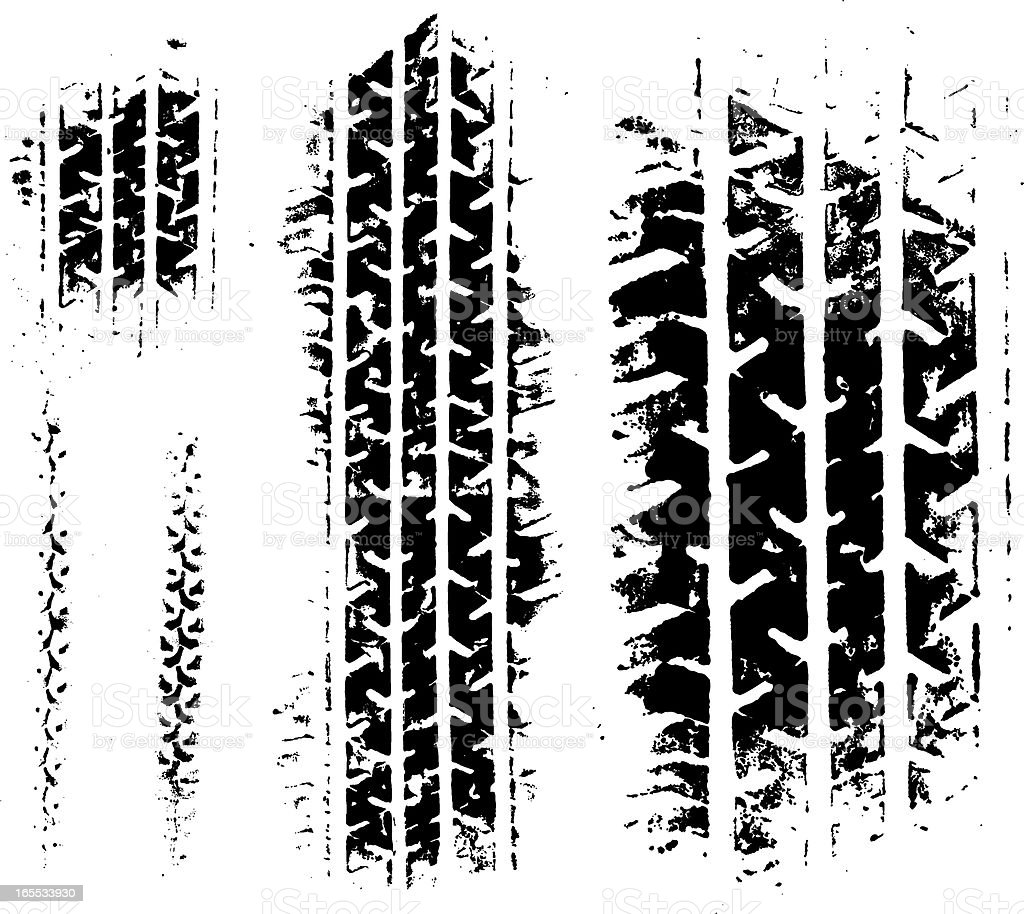 Tyre Grunge vector art illustration