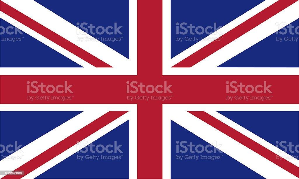 uk flag vector art illustration