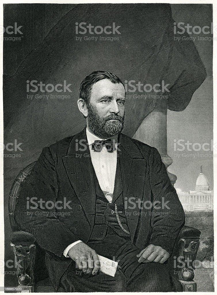 Ulysses Simpson Grant royalty-free stock vector art