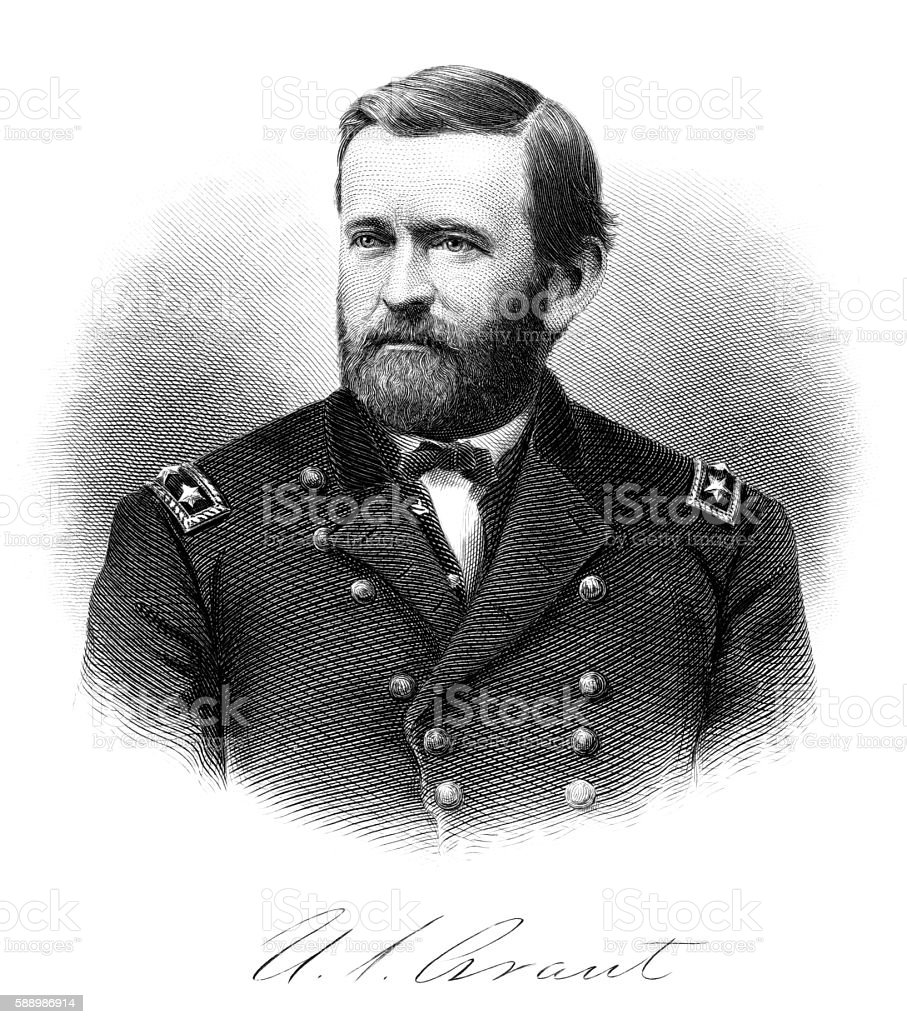 Ulysses Simpson Grant stock photo