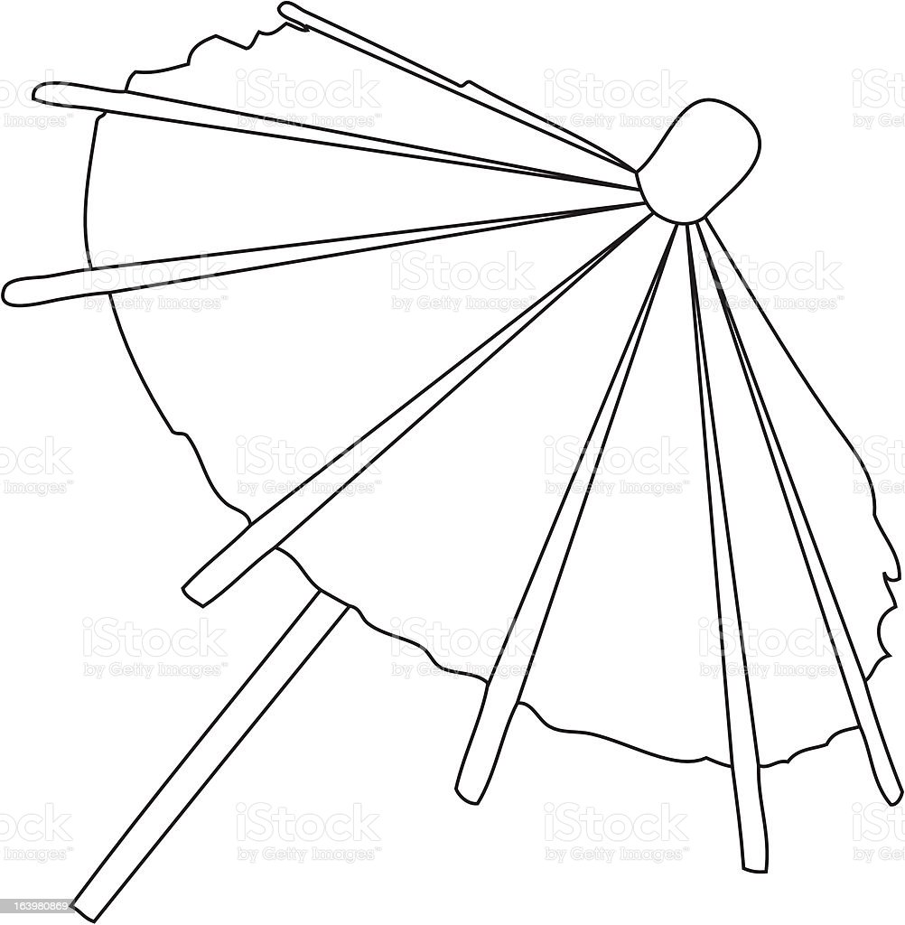 umbrella on white background. vector illustration royalty-free stock vector art