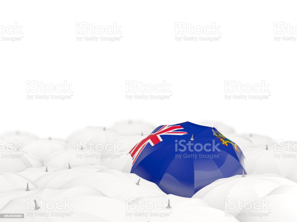 Umbrella with flag of south georgia and the south sandwich islands stock photo