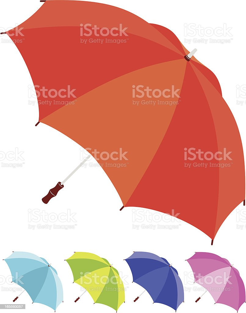 umbrellas royalty-free stock vector art