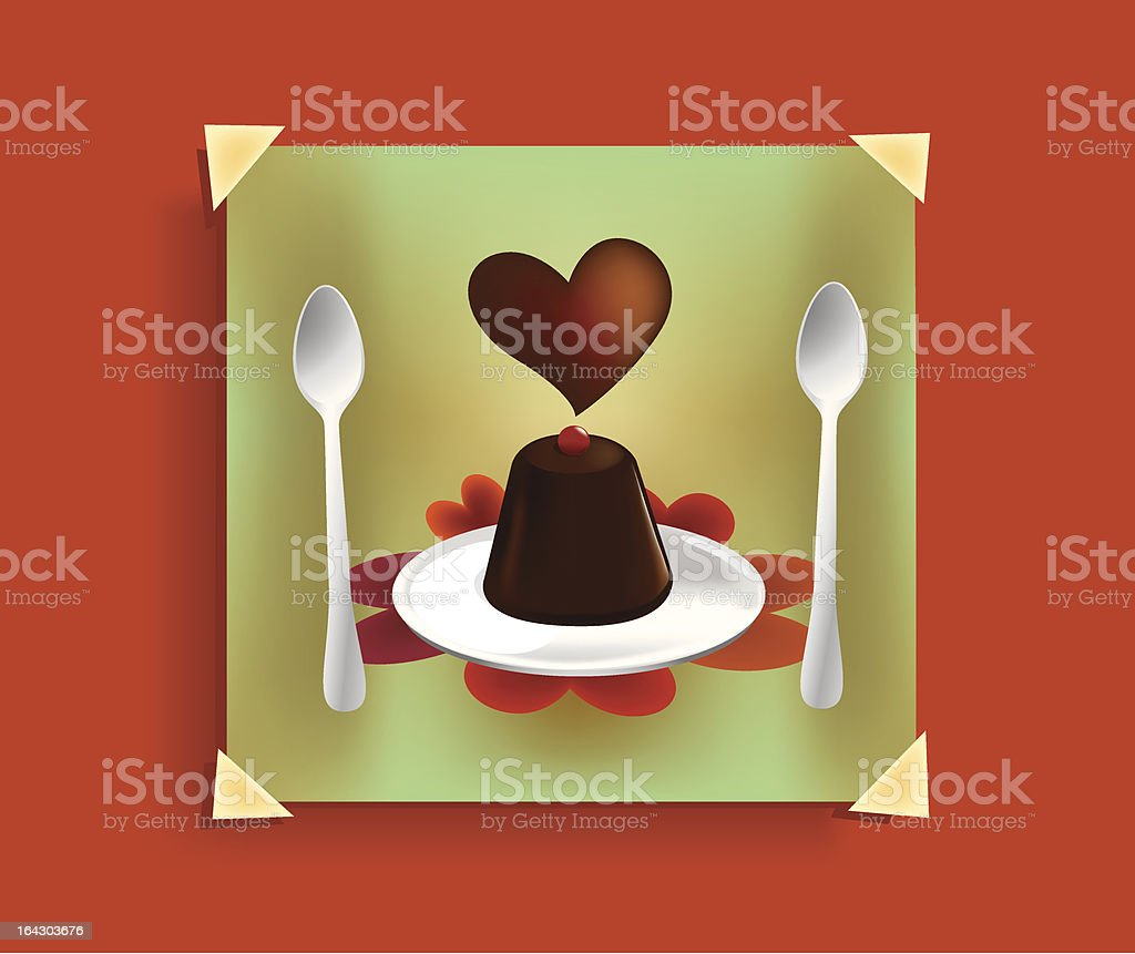 un dolce san valentino vector art illustration