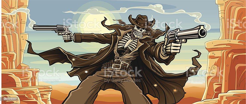 Undead Gunslinger: Mountain Pass Version vector art illustration