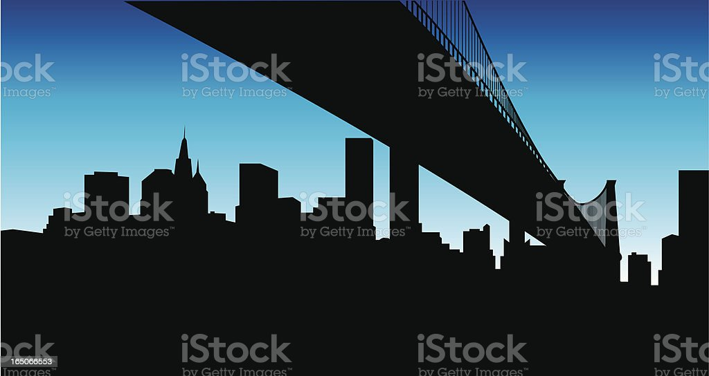 Under the Bridge... vector art illustration