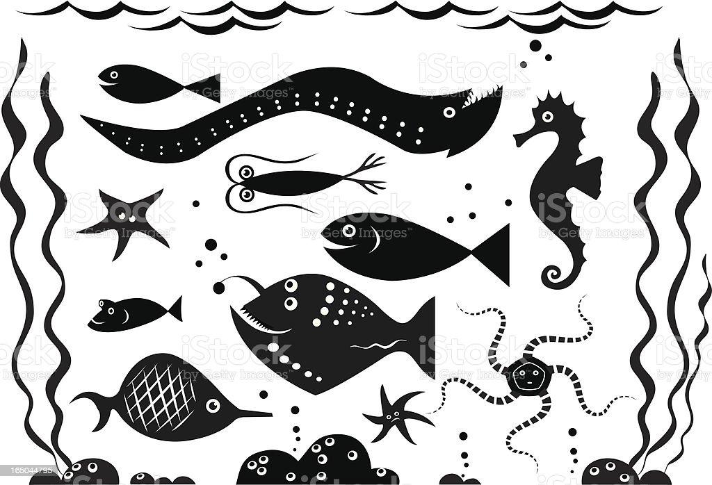 Under the sea royalty-free stock vector art