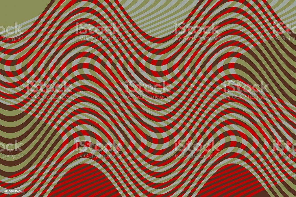 Undulating mesh Color or Pattern - Malla o Trama Ondulante vector art illustration