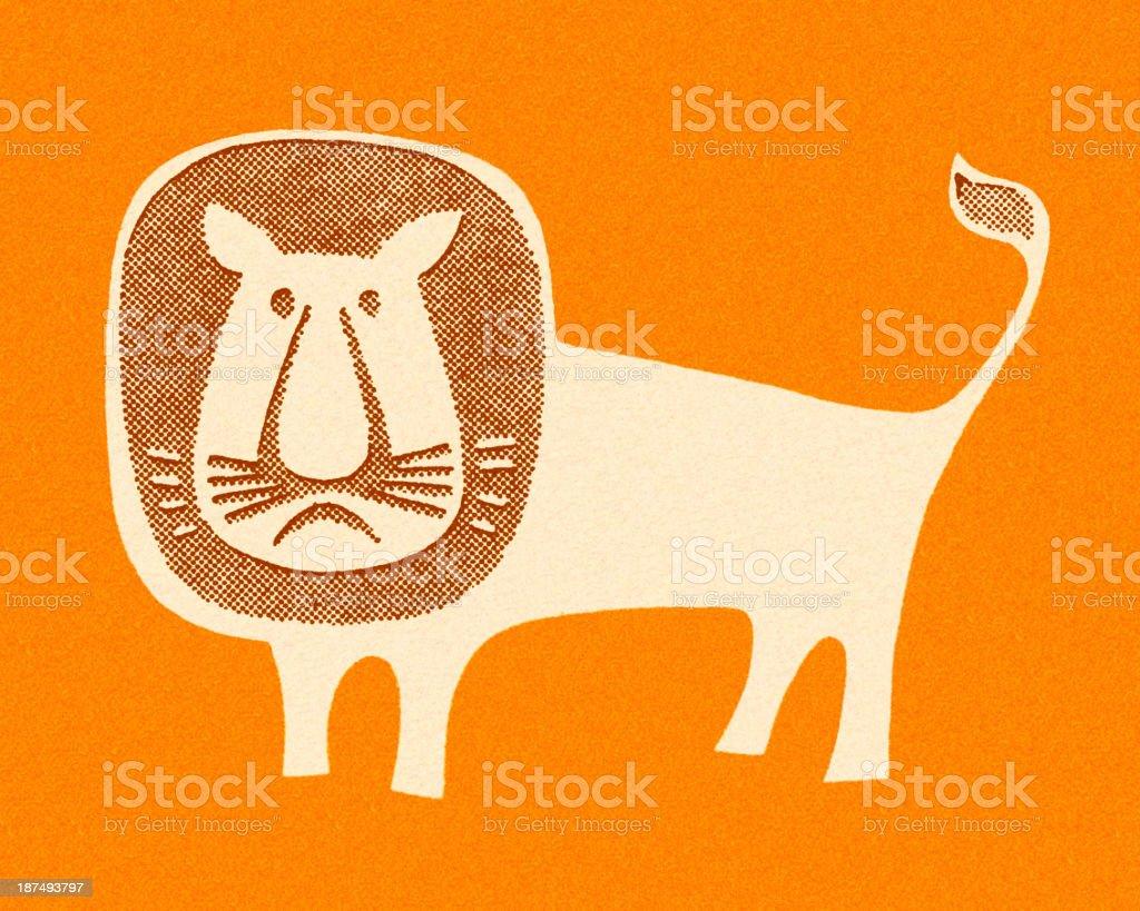 Unhappy Lion royalty-free stock vector art