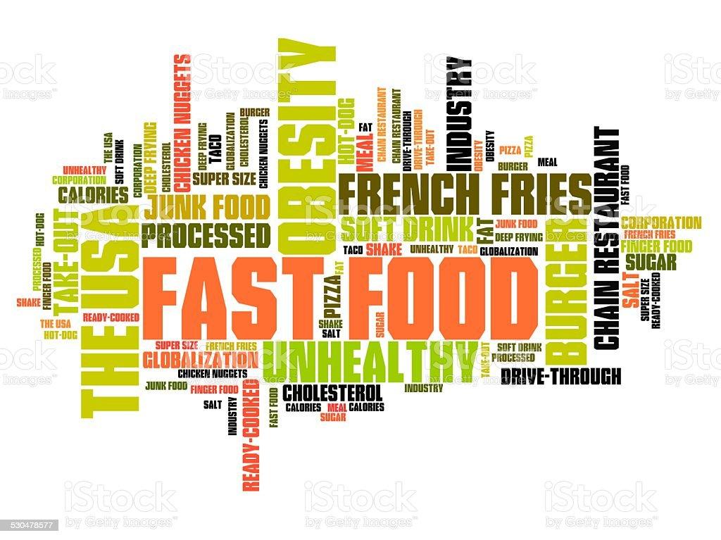 Unhealthy diet vector art illustration