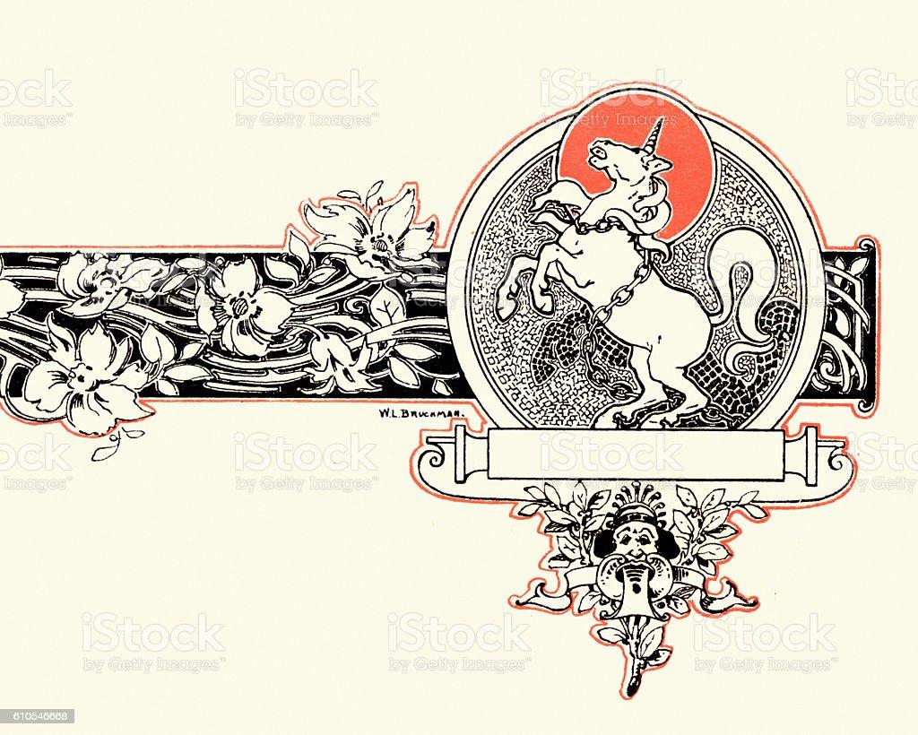 Unicon design vector art illustration